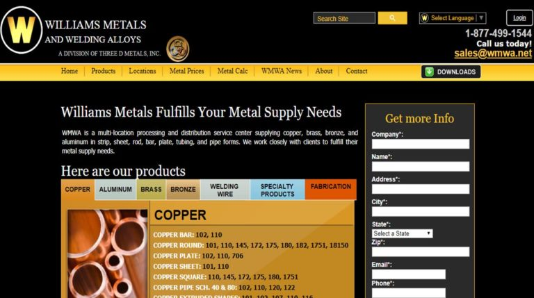 Williams Metals and Welding Alloys, Inc.